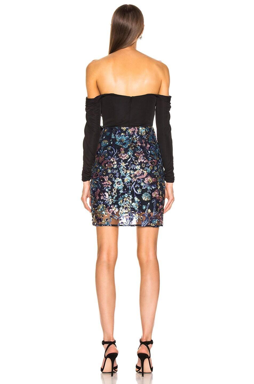 Image 3 of self-portrait Off Shoulder Floral Sequin Embellished Dress in Multi