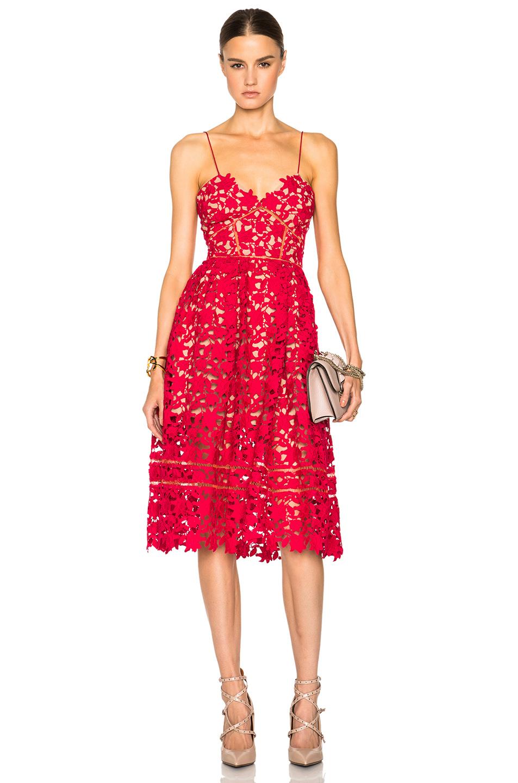 Image 1 of self-portrait Azaelea Dress in Red