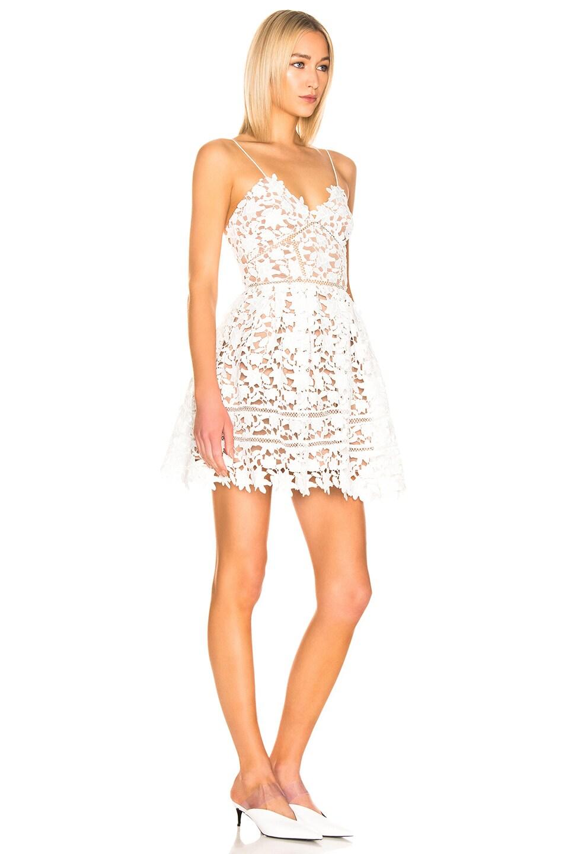 Image 2 of self-portrait Azaelea Mini Dress in White
