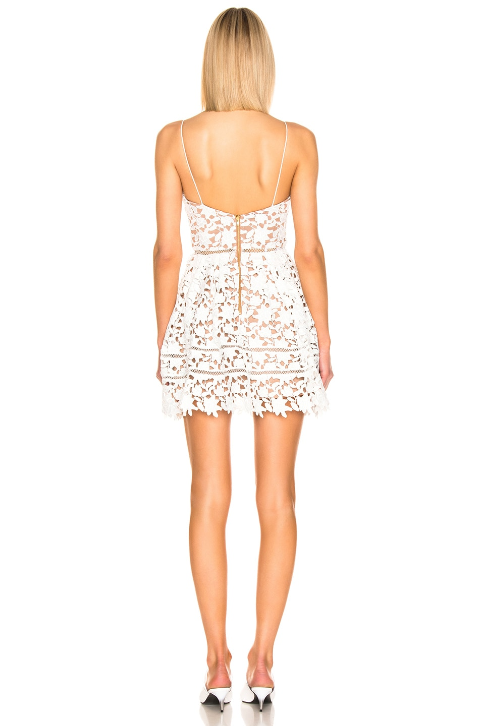 b3441bf901faa self-portrait Azaelea Mini Dress in White | FWRD