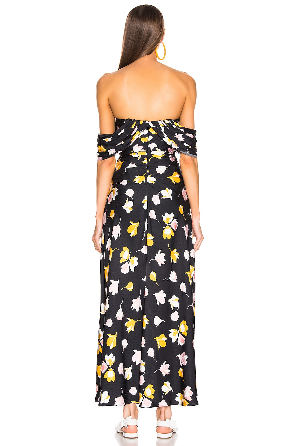Image 4 of self-portrait Floral Printed Dress in Black