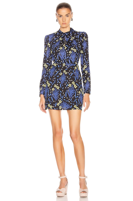 Image 1 of self-portrait Wildflower Jersey Print Dress in Multi