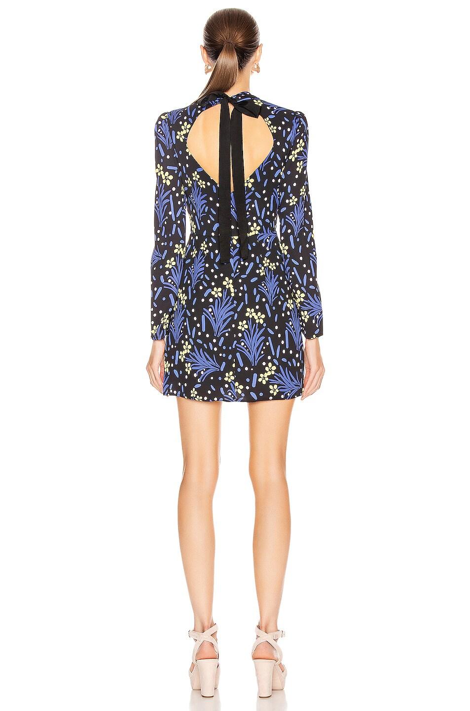 Image 3 of self-portrait Wildflower Jersey Print Dress in Multi