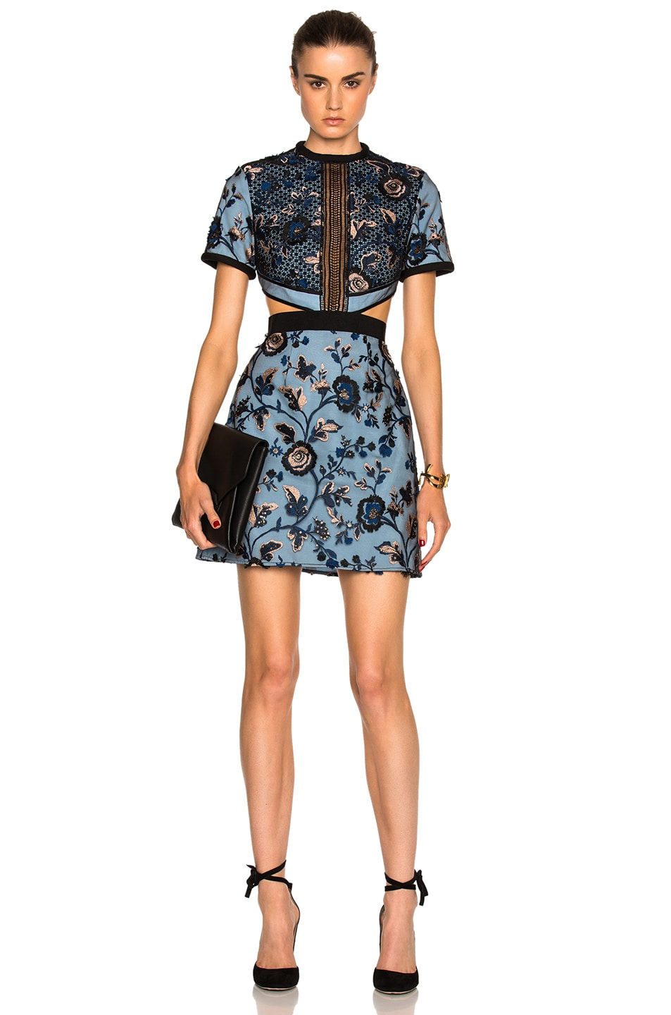 Image 1 of self-portrait Florence Dress in Blue