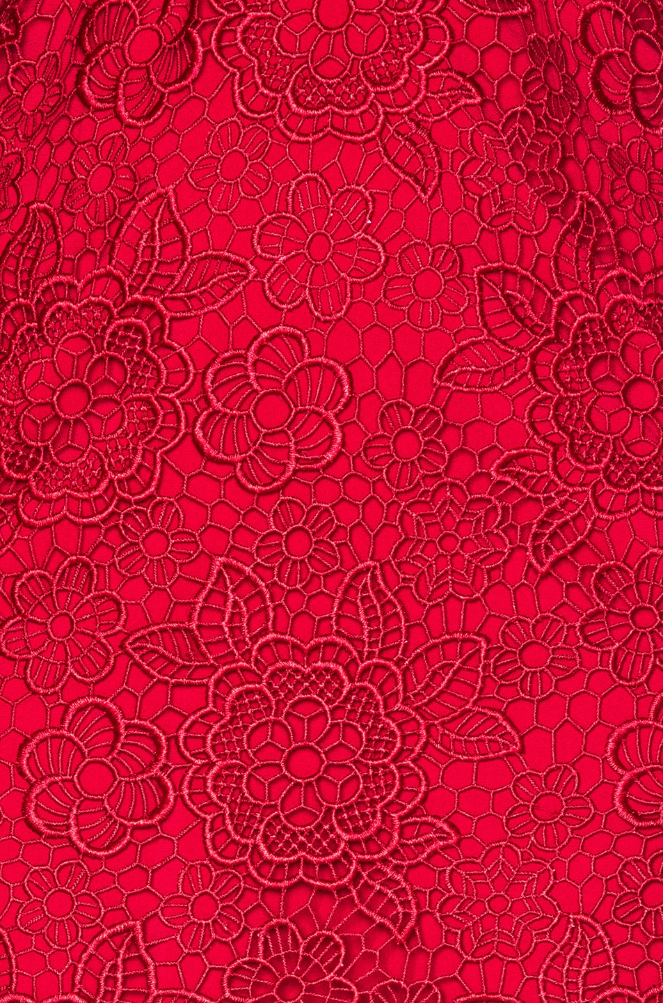 Image 5 of self-portrait Floral Blush Midi Dress in Raspberry Red