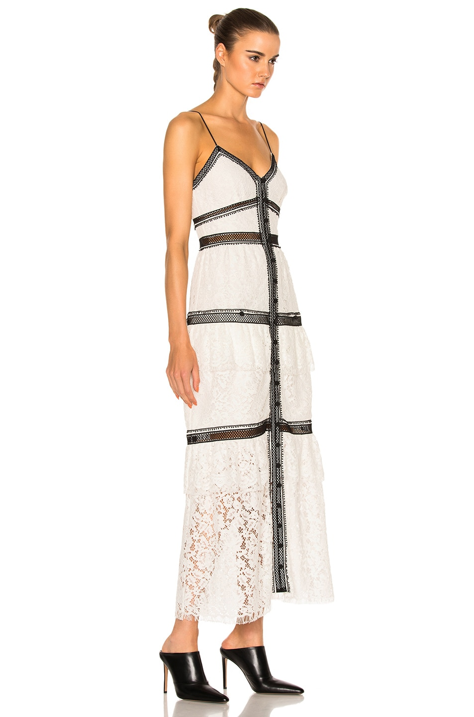 bb94f04ab9af Image 3 of self-portrait Lace Trim Maxi Dress in White