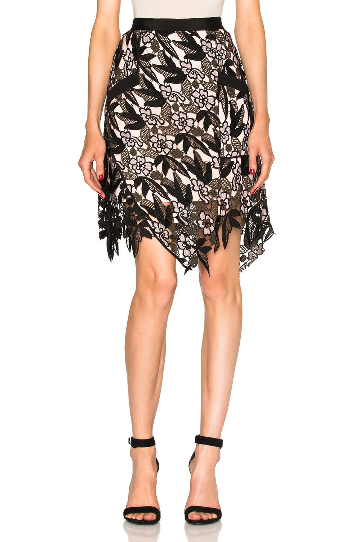Image 1 of self-portrait Nina Mini Skirt in Multi