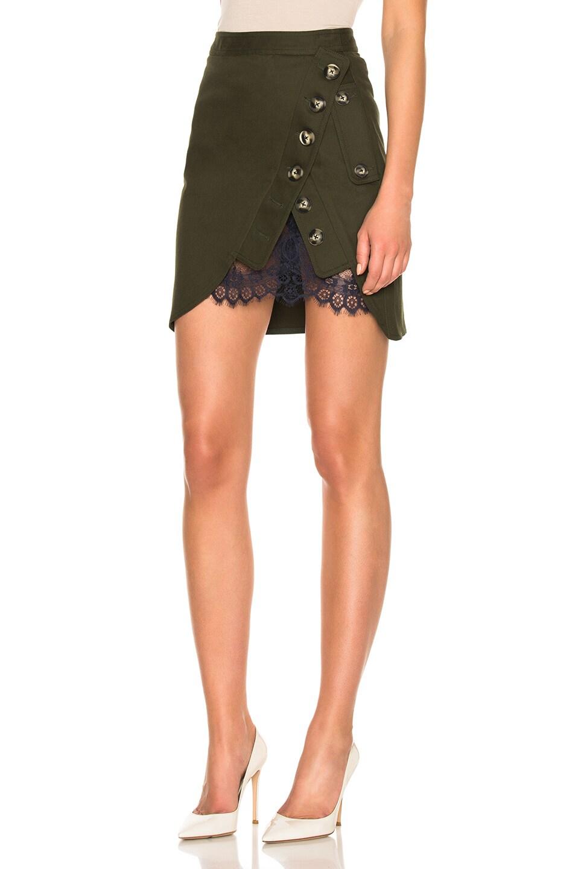 0f52e91539d481 Image 2 of self-portrait Utility Mini Skirt in Khaki