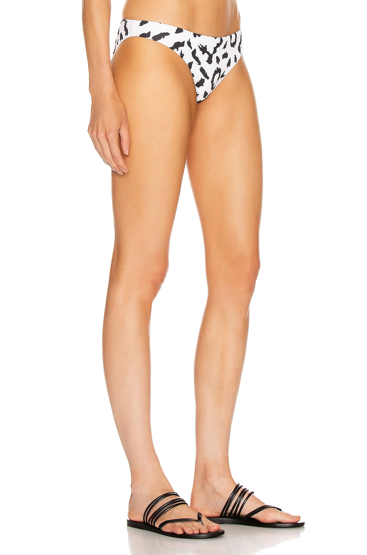 Image 2 of self-portrait Leopard Bikini Bottom in Ivory & Black