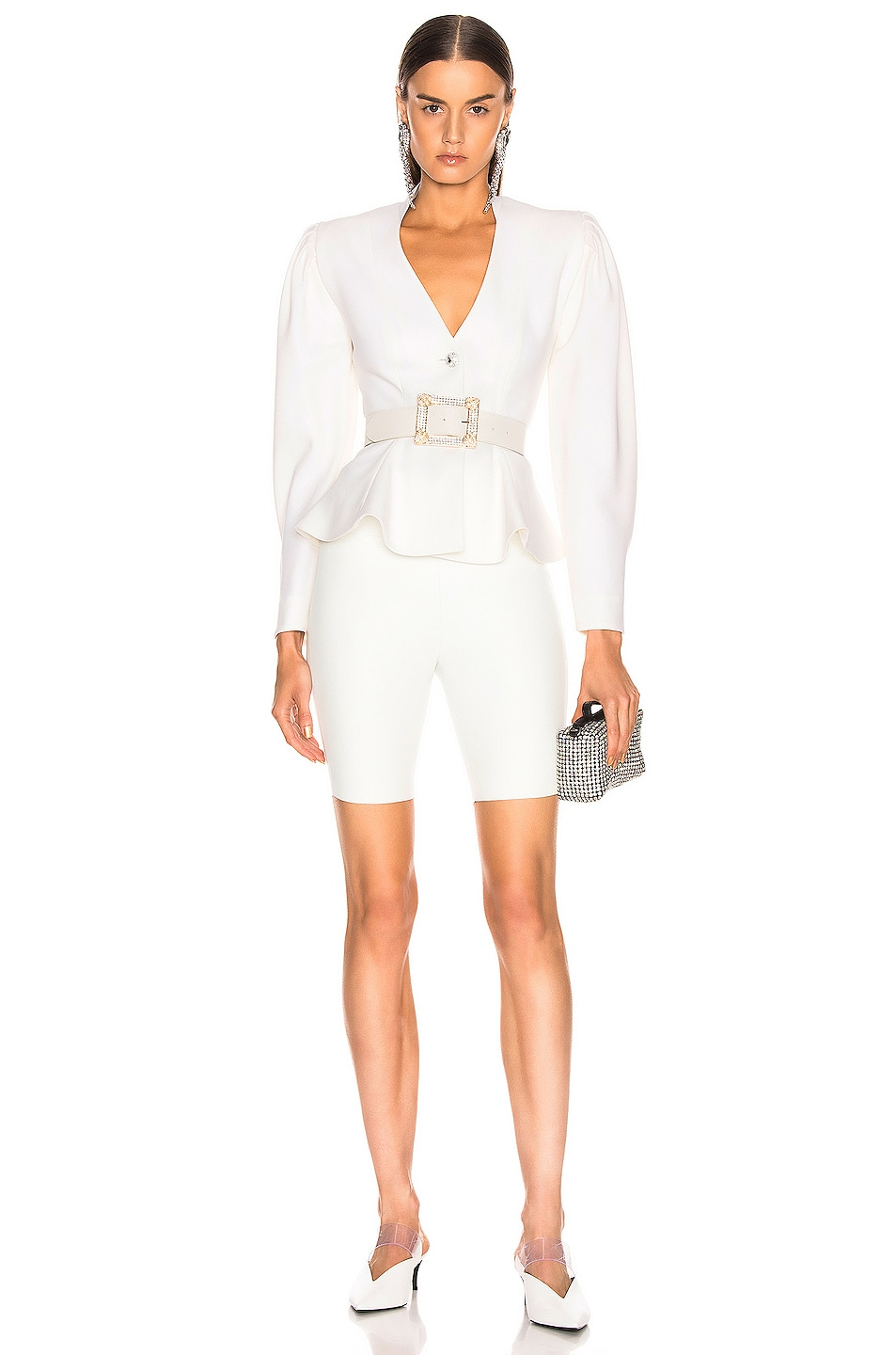 Image 4 of SPRWMN Biker Short in White