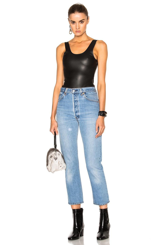 Image 6 of SPRWMN Leather Bodysuit in Black