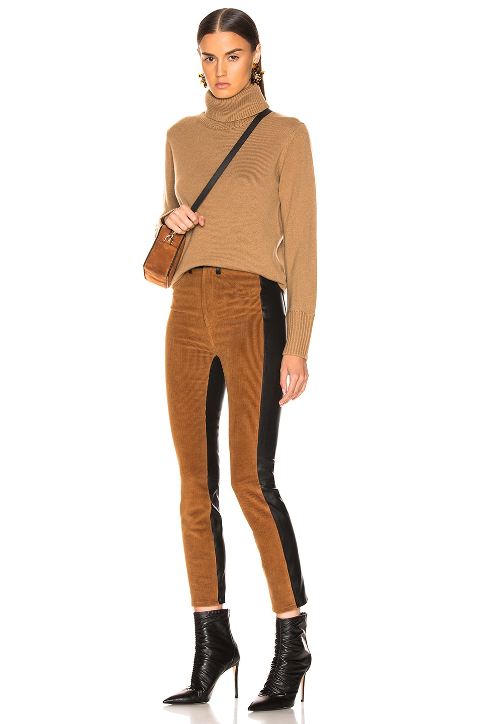 Image 5 of SPRWMN High Waisted Corduroy Pants in Chocolate & Black