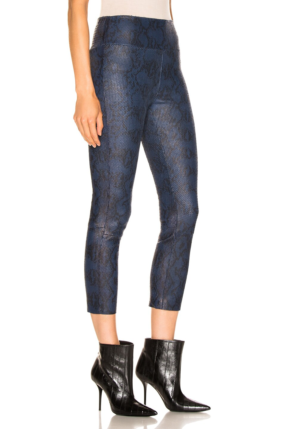 Image 2 of SPRWMN High Waisted Legging in Snake Blue