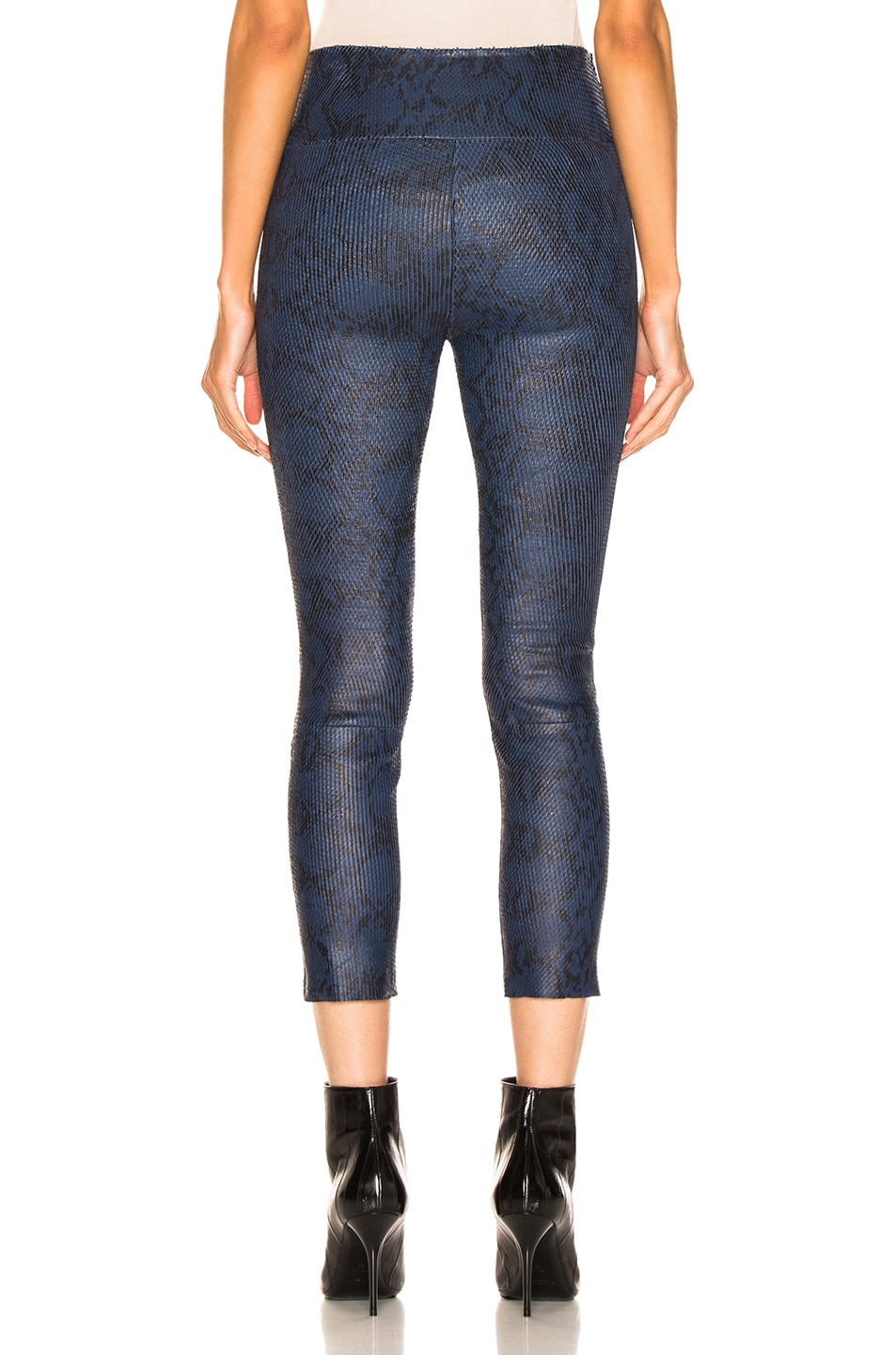 Image 3 of SPRWMN High Waisted Legging in Snake Blue