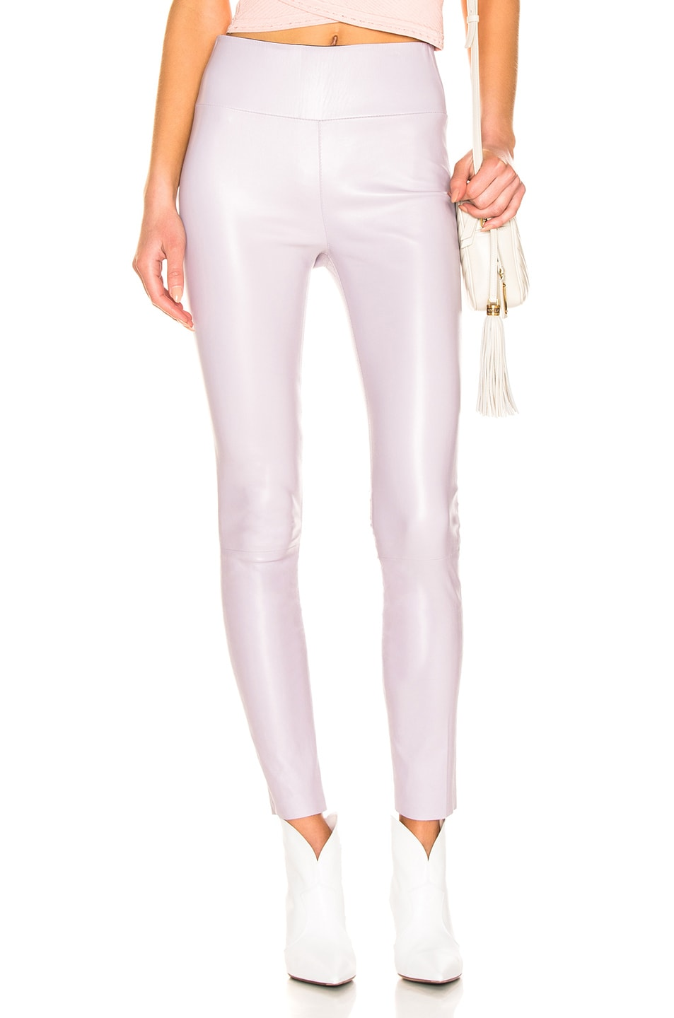 Image 1 of SPRWMN High Waist Ankle Legging in Lavender