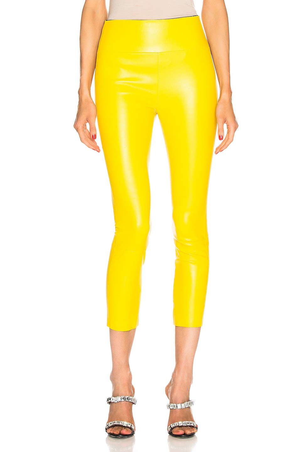 Image 1 of SPRWMN High Waist 3/4 Legging in Lemon