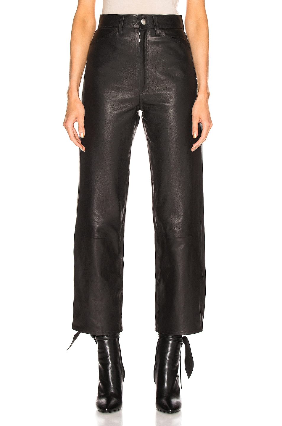 Image 1 of SPRWMN 5 Pocket Straight Leg Pant in Black