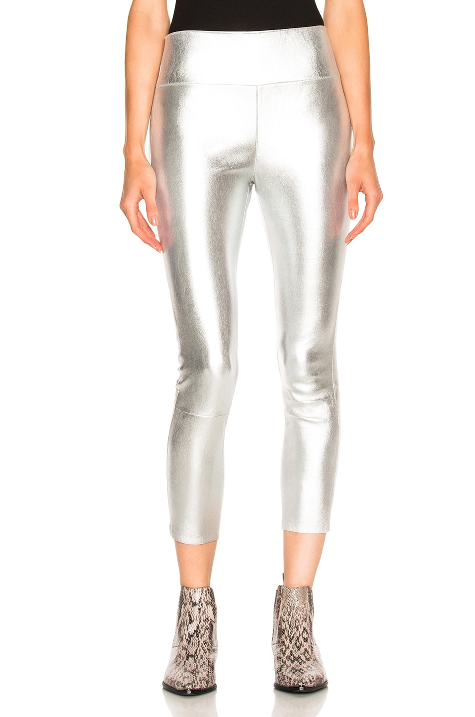 Silver Leather high waisted leggings SPRWMN Buy Sale 100% Authentic Discount Best Choice For Sale XZ5jiIG8