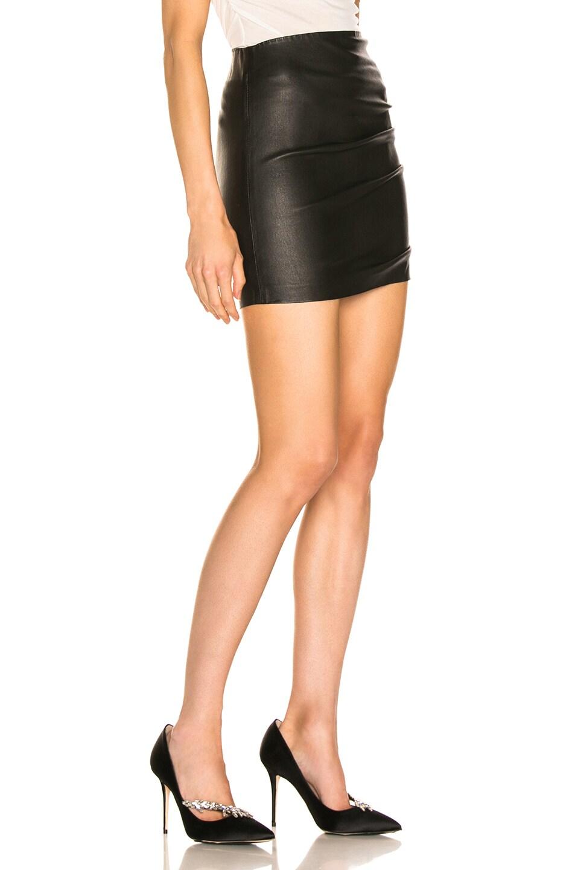 Image 2 of SPRWMN Shirred Mini Skirt in Black