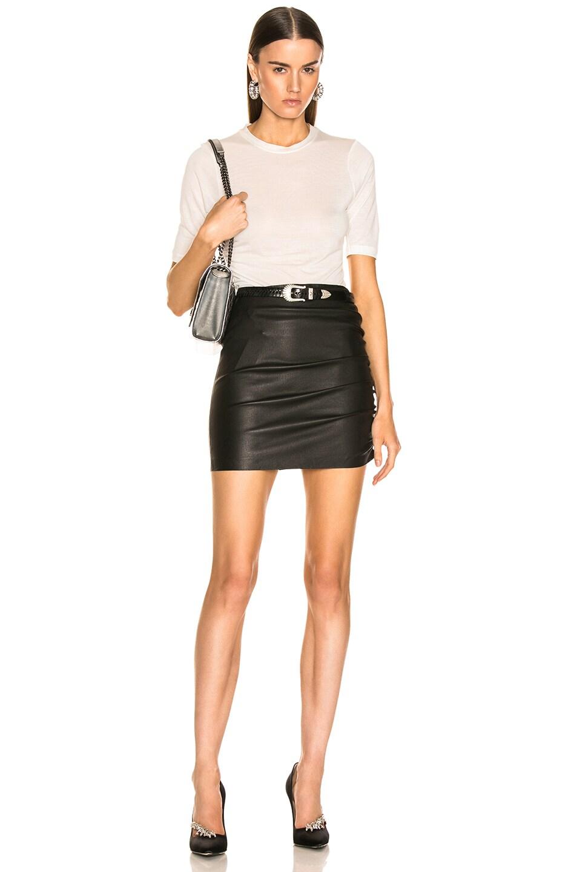 Image 4 of SPRWMN Shirred Mini Skirt in Black