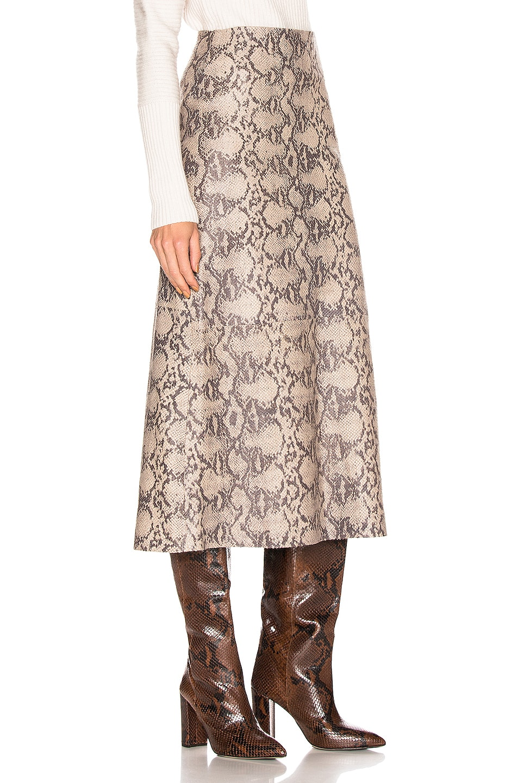 Image 2 of SPRWMN Midi Skirt in Tan Snake
