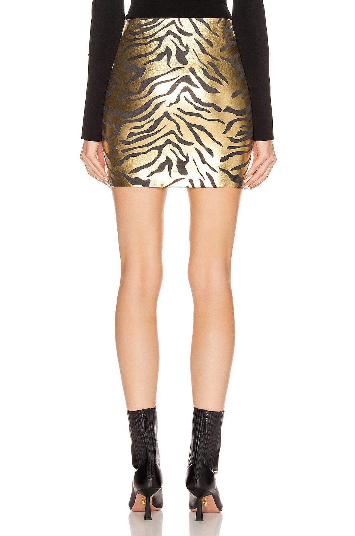 Image 3 of SPRWMN Mini Skirt in Metallic Zebra