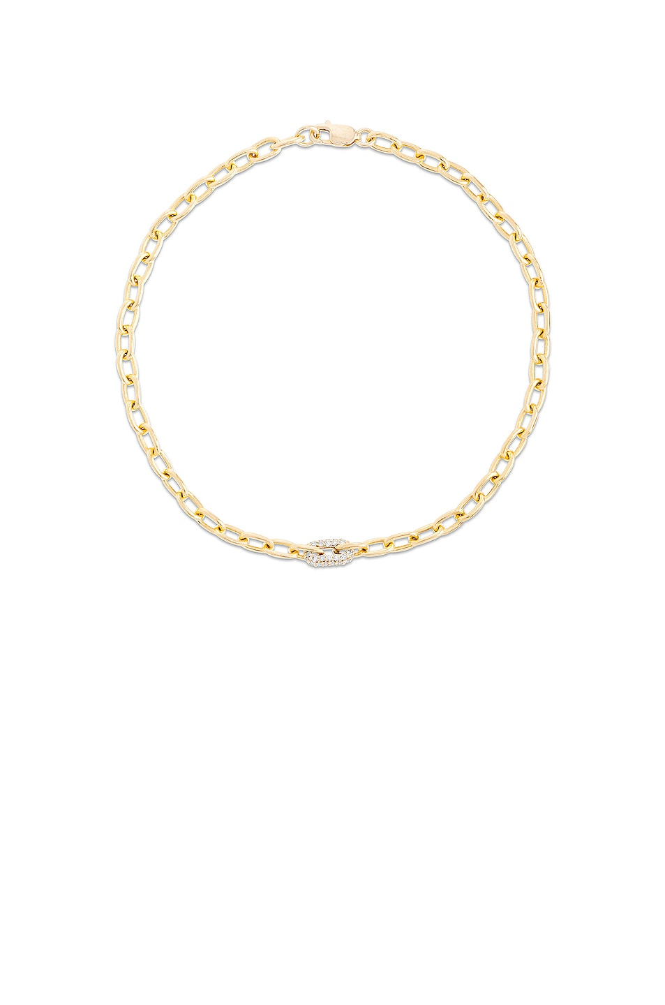 Image 1 of STONE AND STRAND Luxe Diamond Chain Bracelet in Gold & Diamond