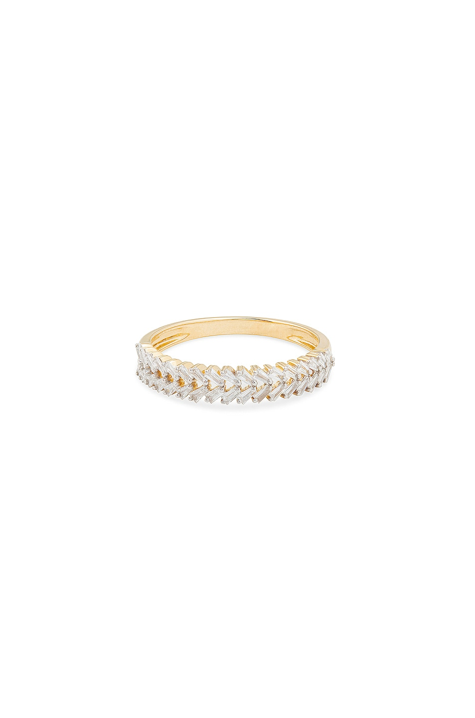 Image 1 of STONE AND STRAND Braided Diamond Baguette Band in Gold & Diamond