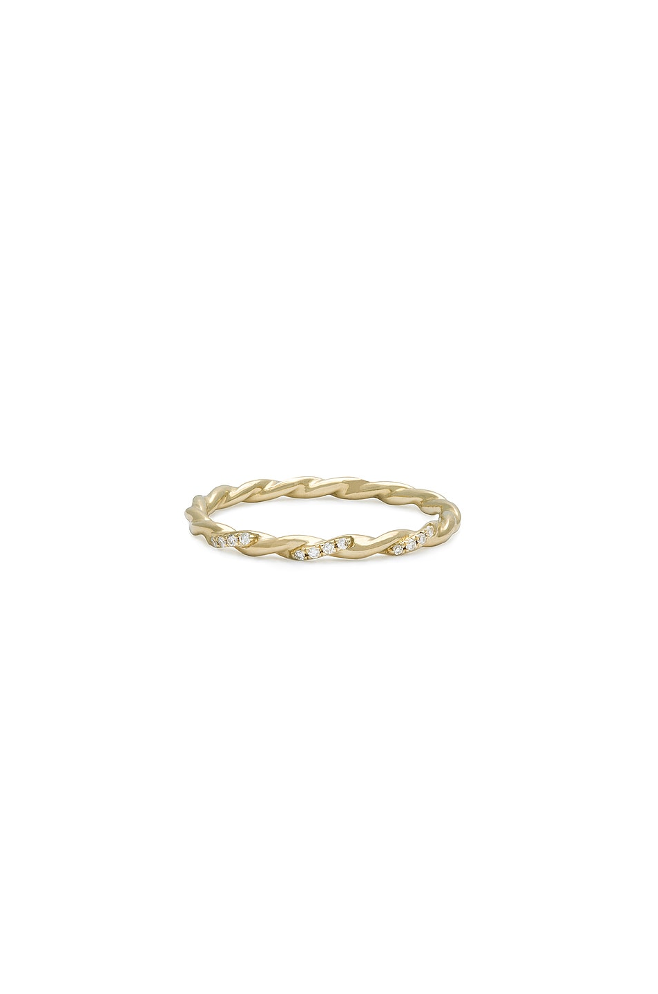 Image 1 of STONE AND STRAND Le Petite Cupola Ring in Gold & Diamond
