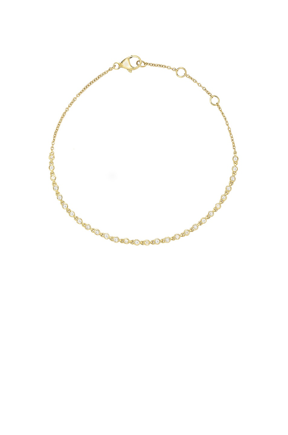 Image 1 of STONE AND STRAND Dainty Rally Tennis Bracelet in Gold & Diamond