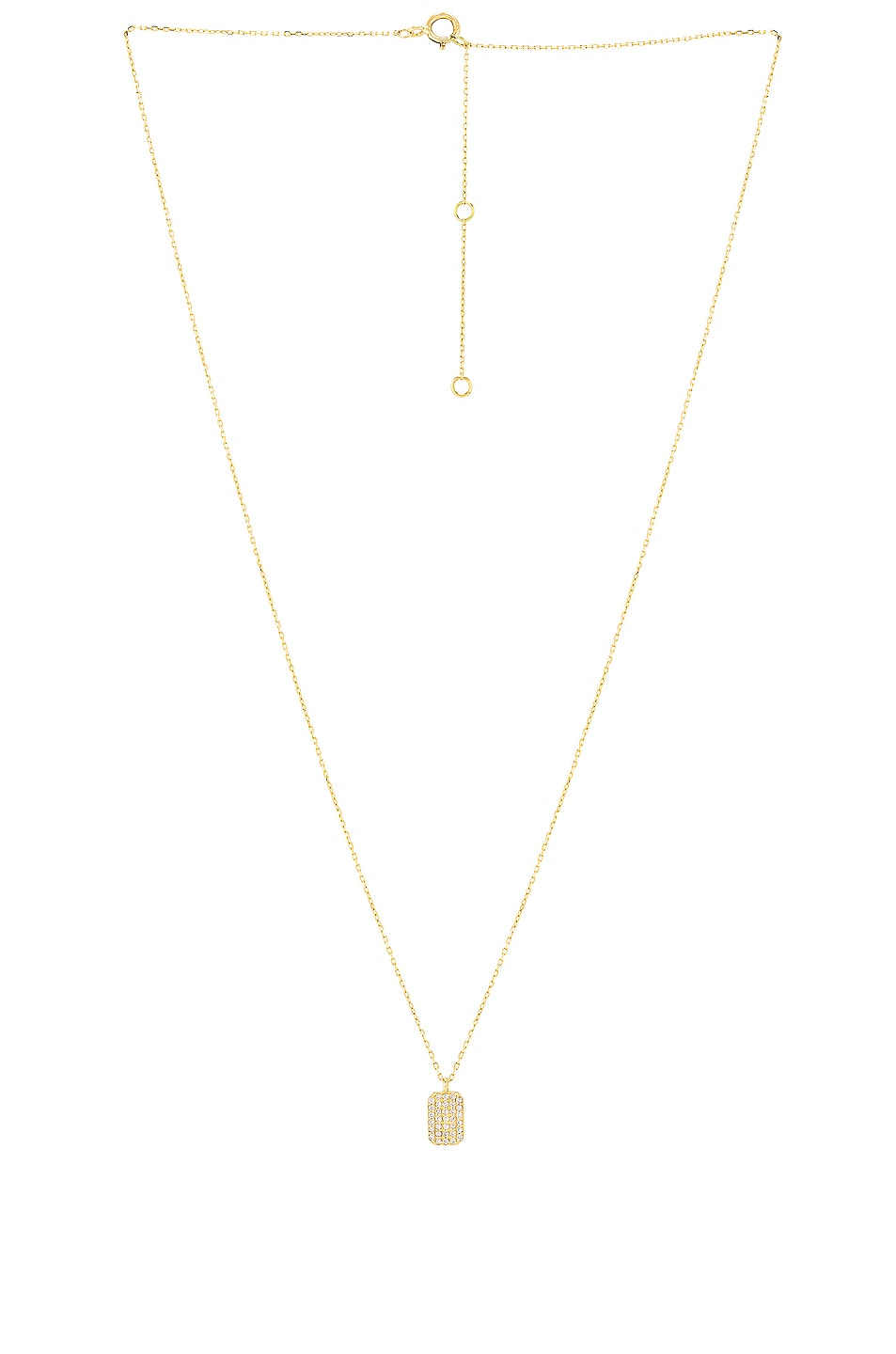 Image 1 of STONE AND STRAND Tagged Diamond Pendant Necklace in Gold & White