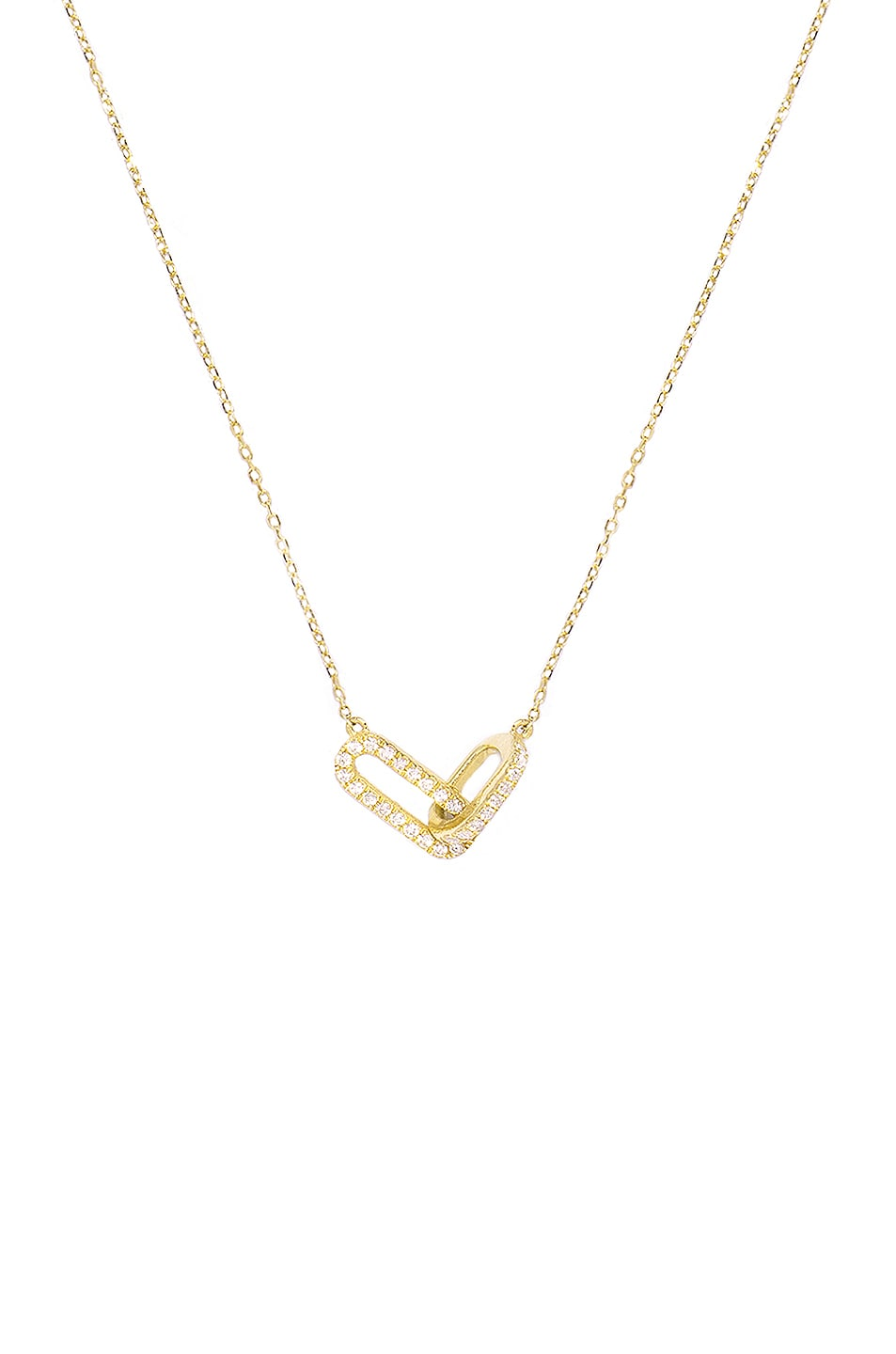 Image 1 of STONE AND STRAND Diamond Linked Up Necklace in Gold & White