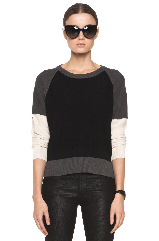 Image 1 of SONIA RYKIEL Color Block Sweater in Black