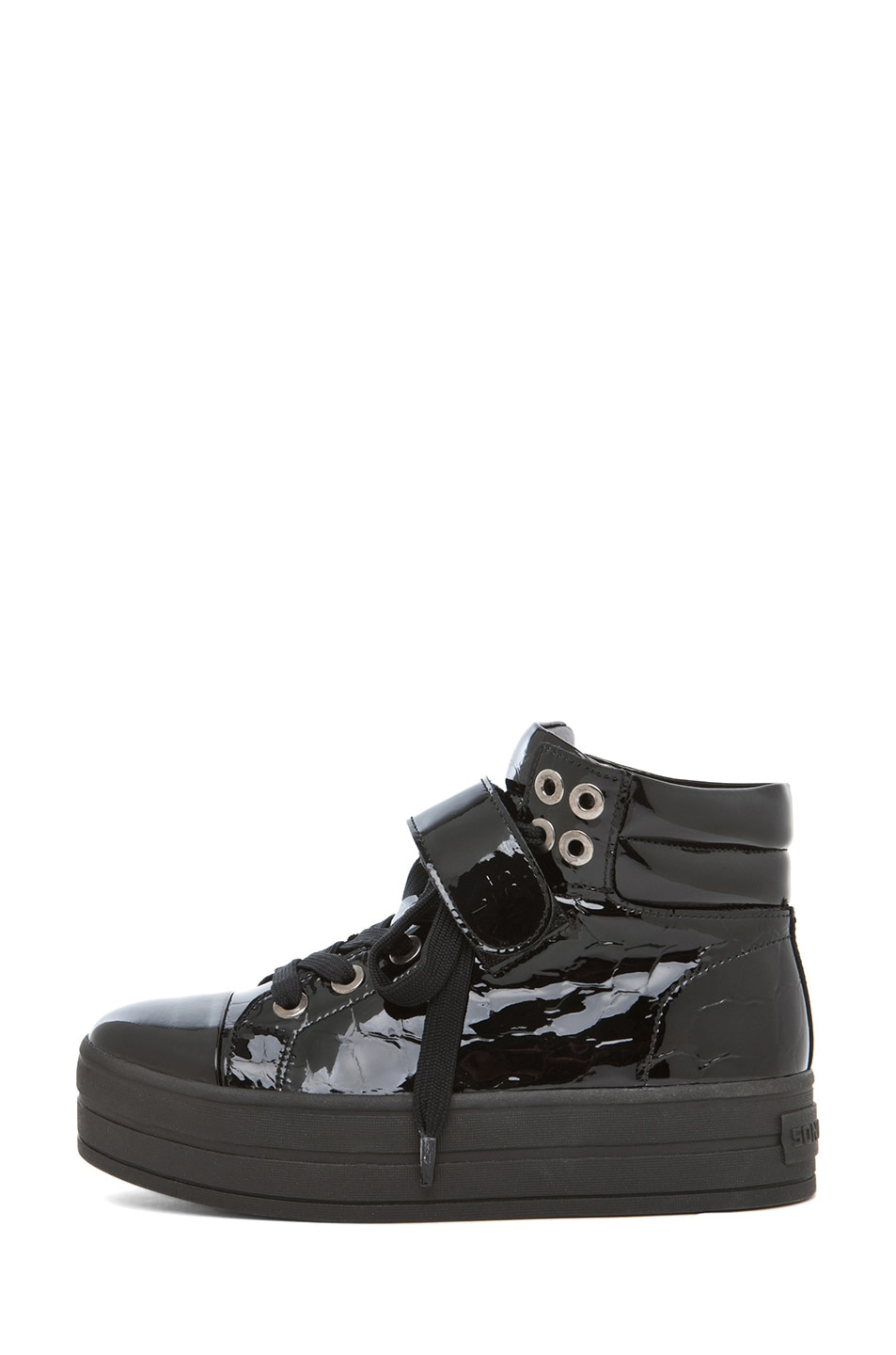 Image 1 of SONIA RYKIEL High Top Sneaker in Black Croco