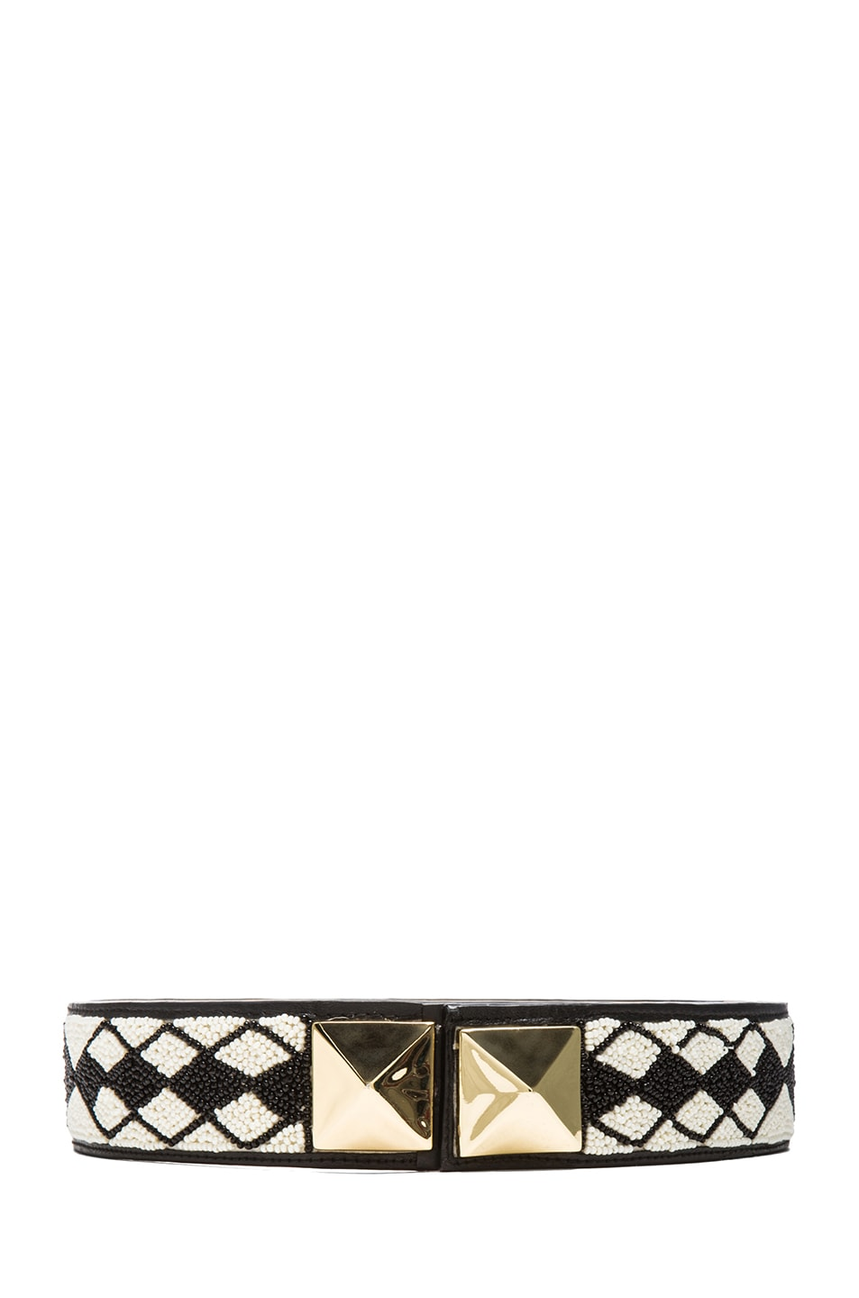 Image 1 of Sass & Bide Our Everything Belt in Black & Cream