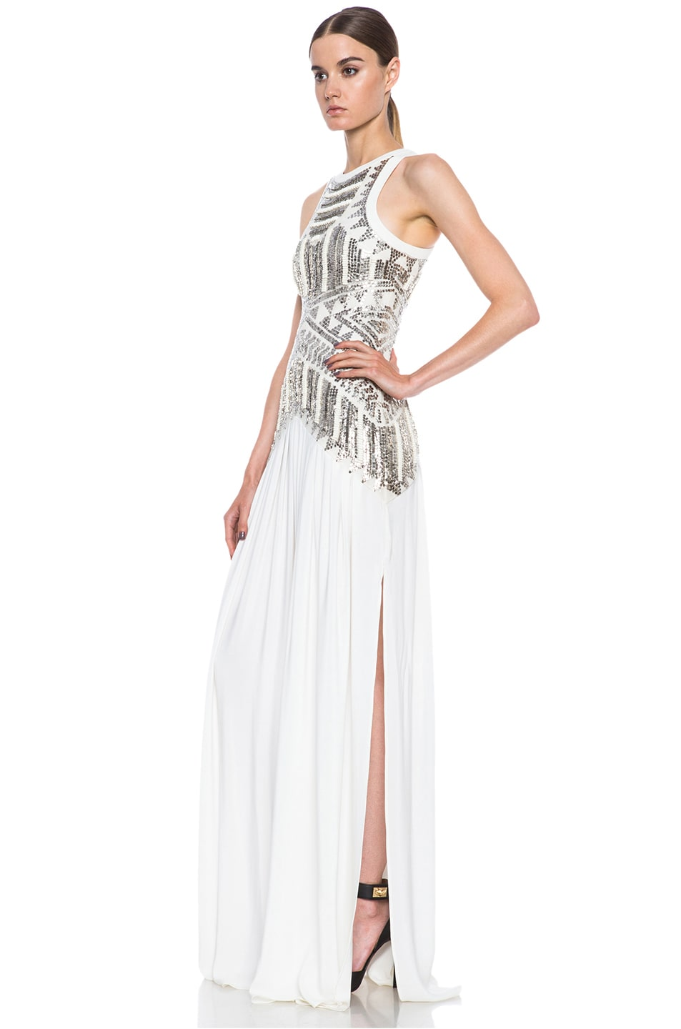 Image 2 of Sass & Bide Egyptian Shawl Woven Silk Dress in Ivory