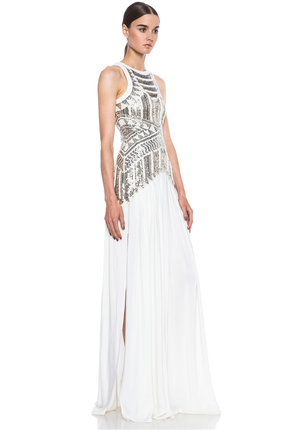 Image 3 of Sass & Bide Egyptian Shawl Woven Silk Dress in Ivory