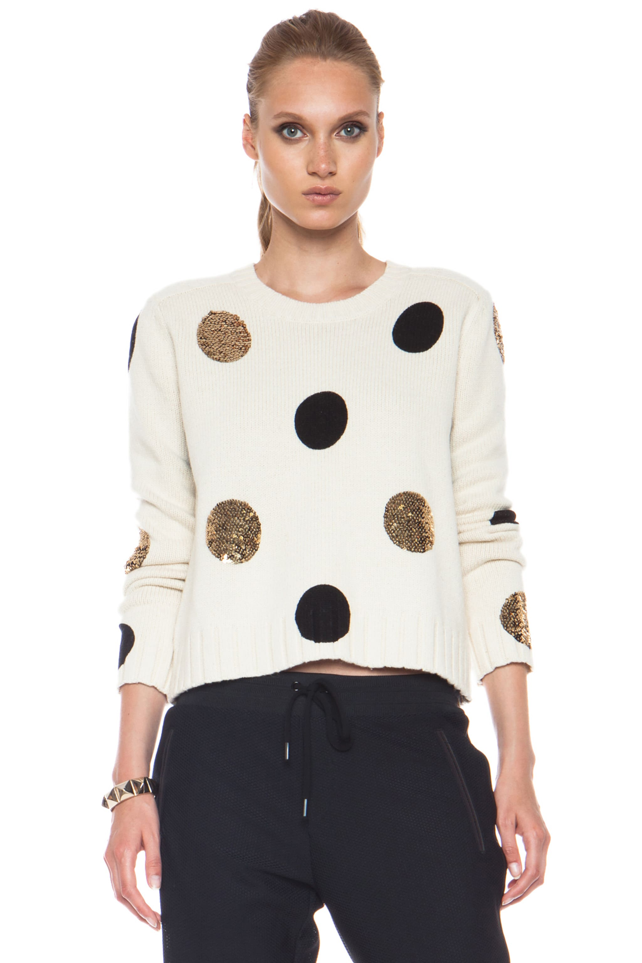 Image 1 of Sass & Bide Between Ordinary Cotton-Blend Sweater in Cream