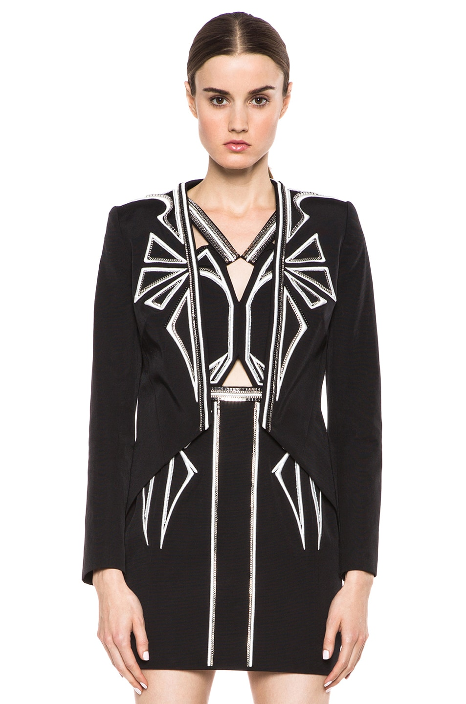 Image 1 of Sass & Bide Down to Earth Cotton-Blend Jacket in Black