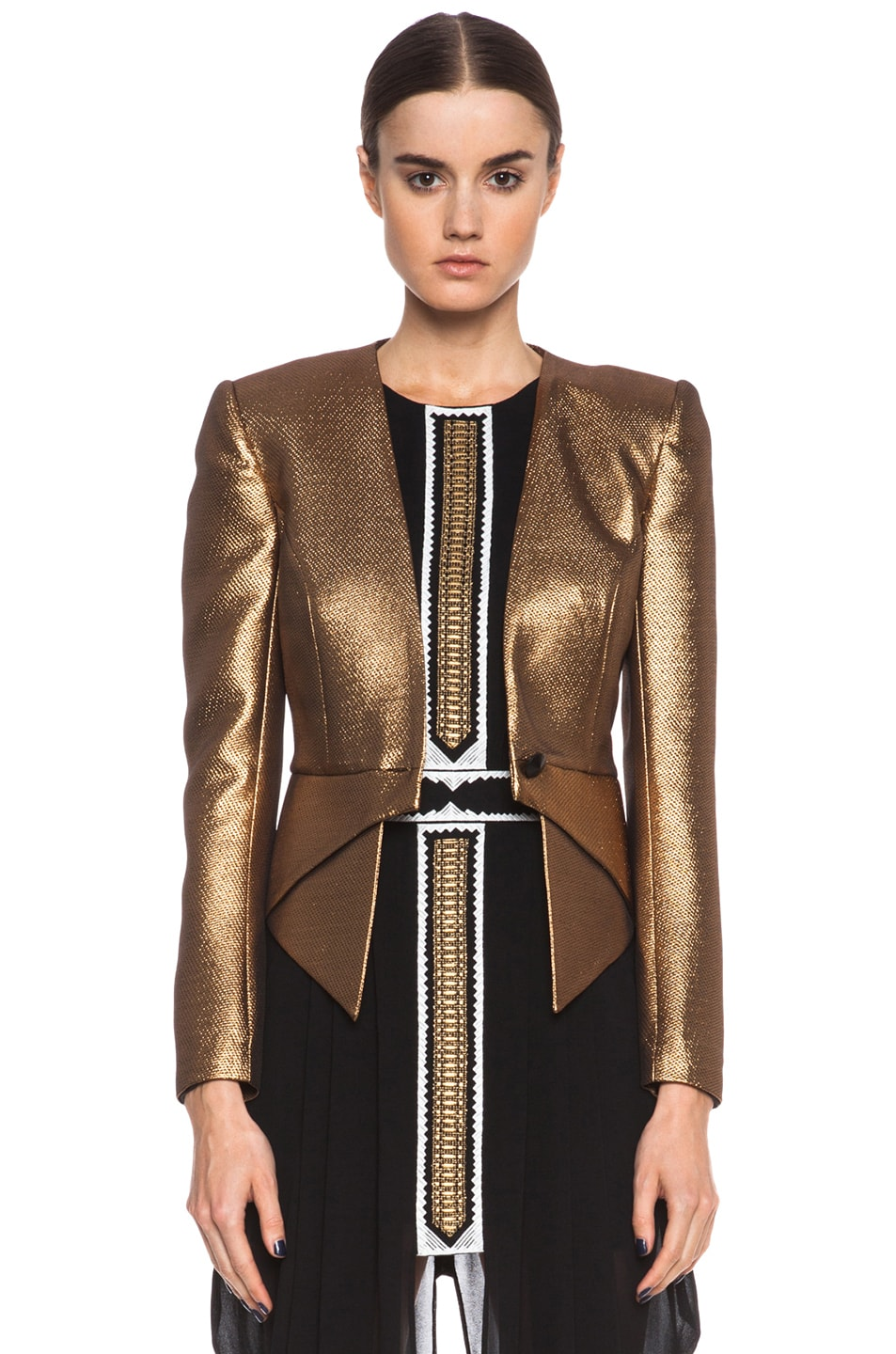 Image 1 of Sass & Bide The Art Scene Poly-Blend Jacket in Gold