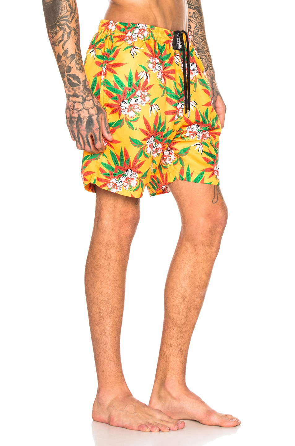 Image 2 of SSS World Corp Quickdry Swimshort in Yellow