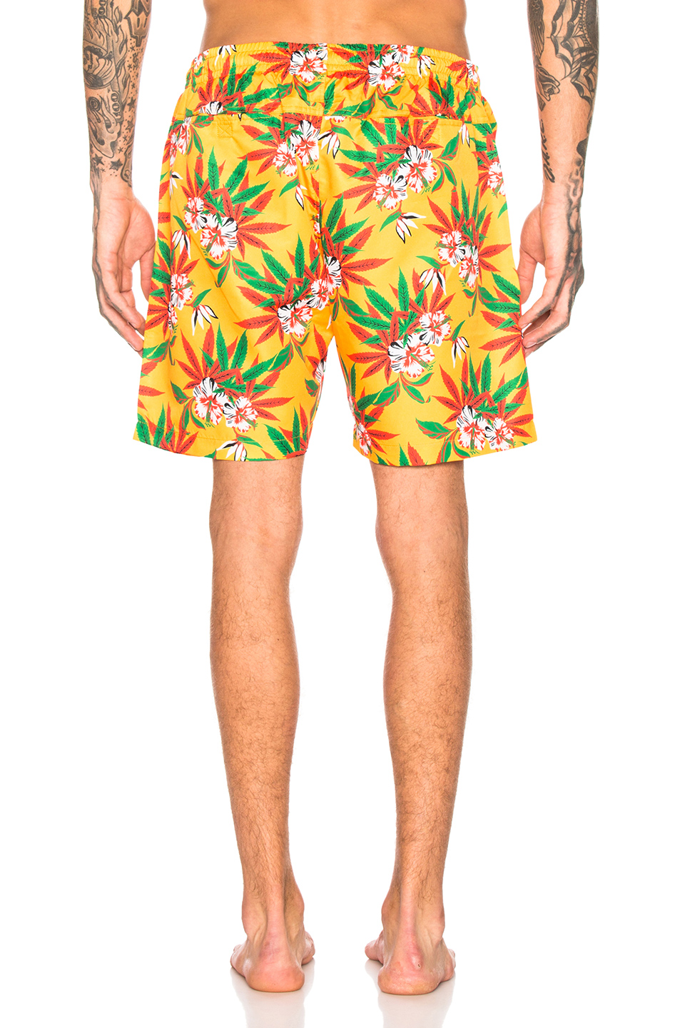 Image 3 of SSS World Corp Quickdry Swimshort in Yellow
