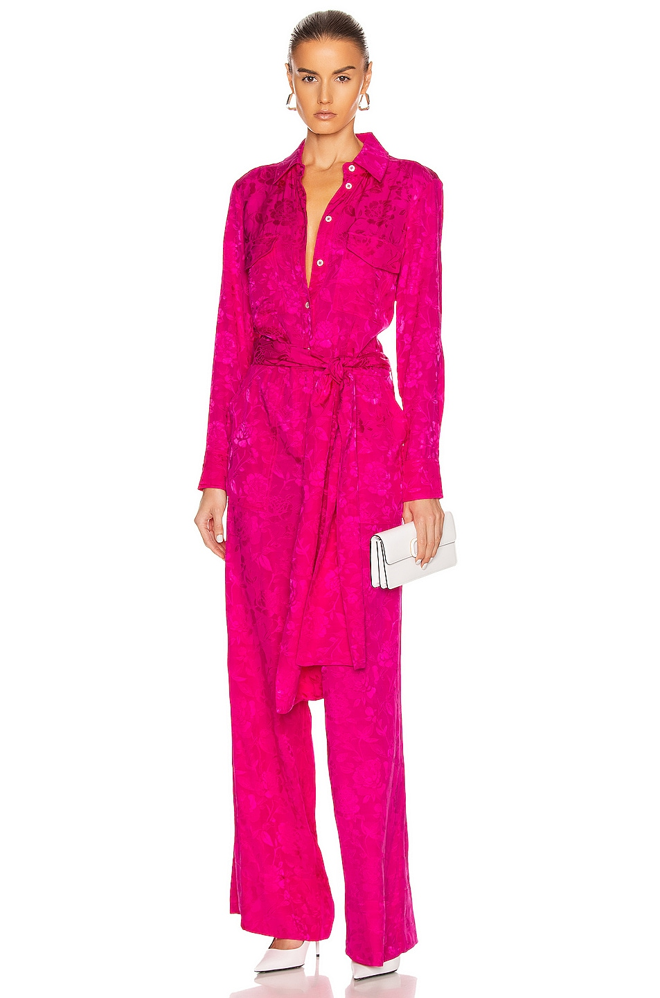 Image 1 of Staud Belle Jumpsuit in Peony