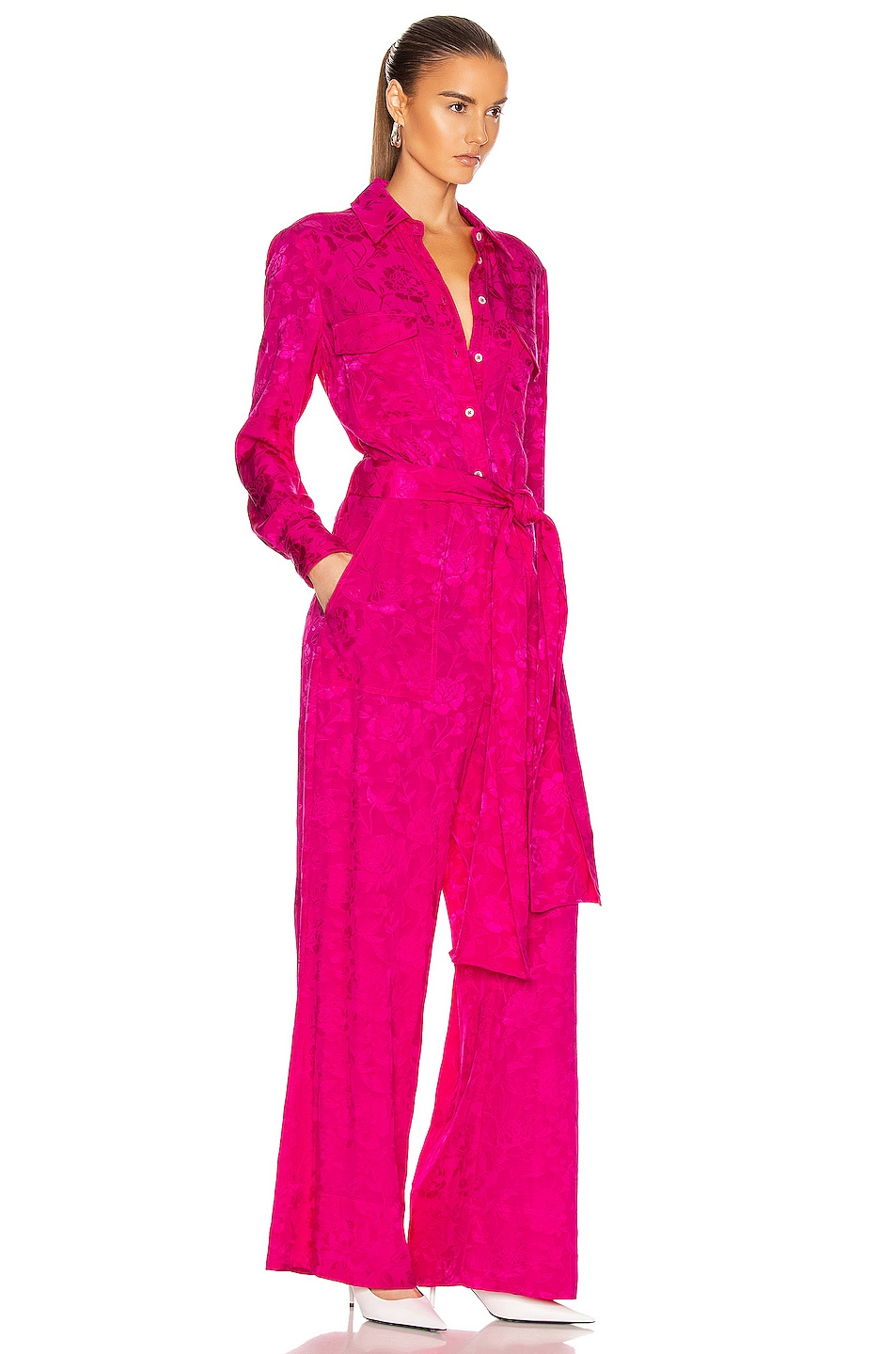Image 2 of Staud Belle Jumpsuit in Peony