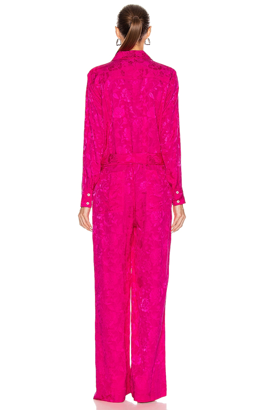 Image 3 of Staud Belle Jumpsuit in Peony