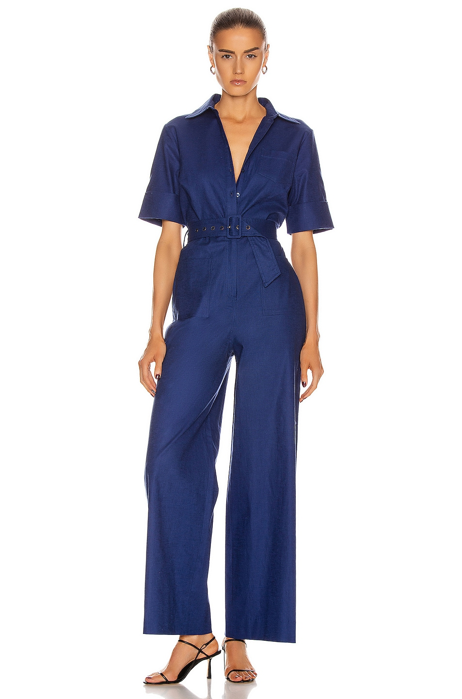 Image 1 of Staud Zavey Jumpsuit in Midnight