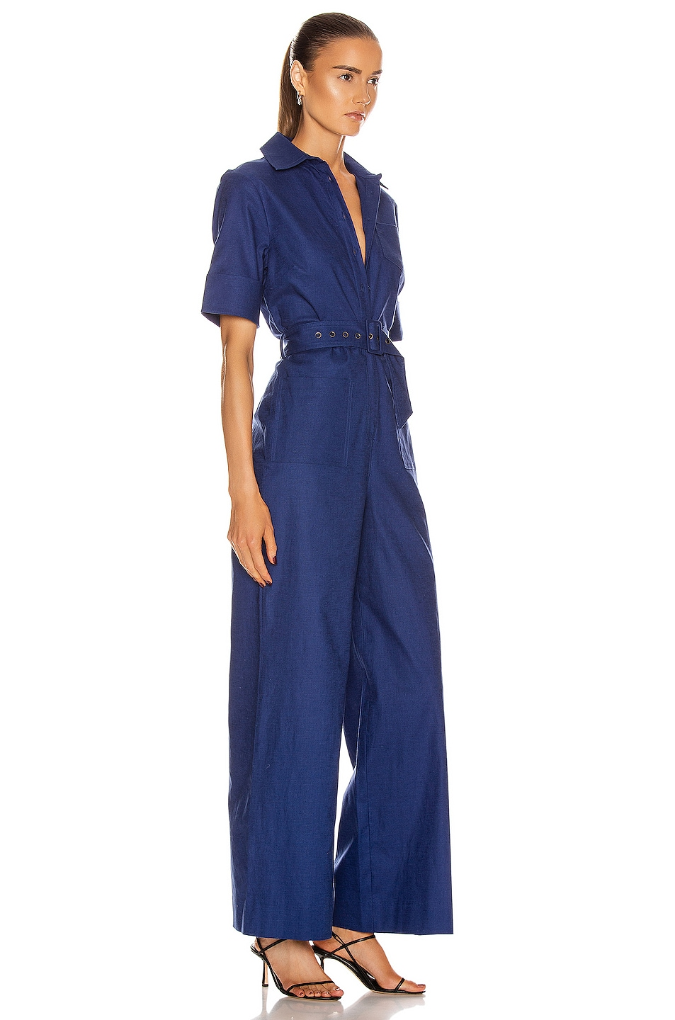 Image 2 of Staud Zavey Jumpsuit in Midnight
