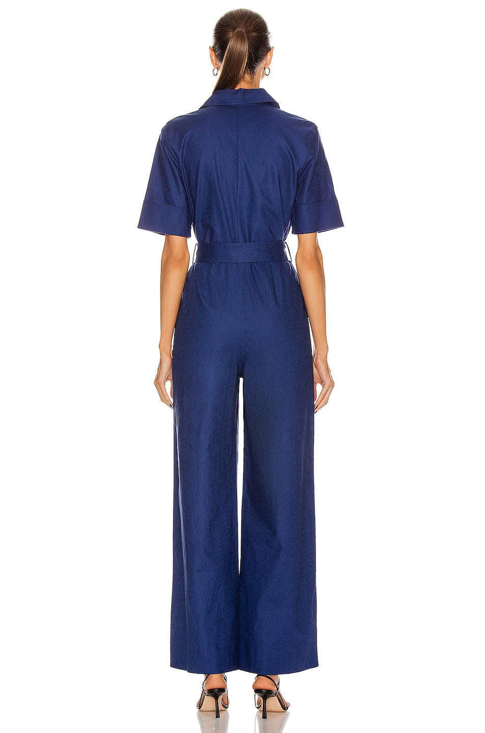 Image 3 of Staud Zavey Jumpsuit in Midnight