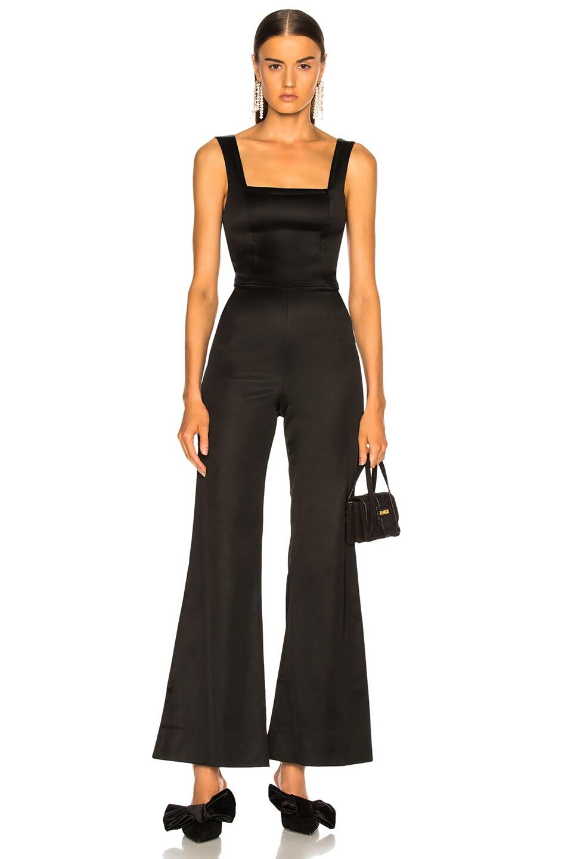 Image 1 of Staud Donna Jumpsuit in Black ce3cd2b03b