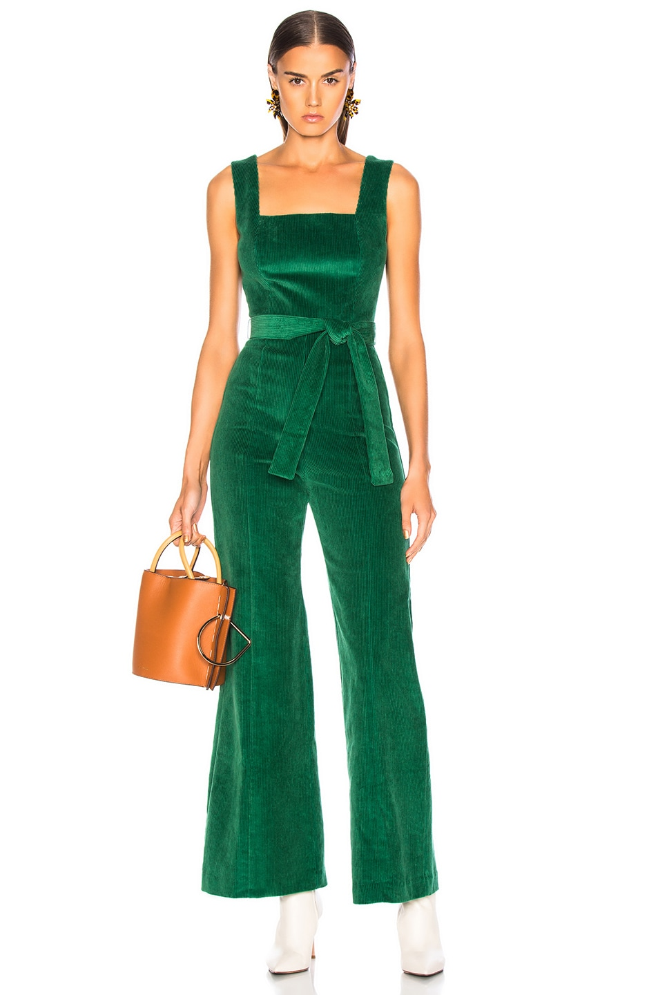 Image 1 of Staud Travis Jumpsuit in Emerald